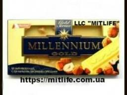 Шоколад Millennium с бесцельным лесным орехом молочный
