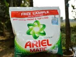 Ariel detergent powder and liquid