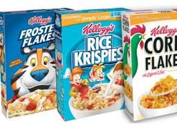 Kelloggs - хрупкий, хлопья, завтраки для всех